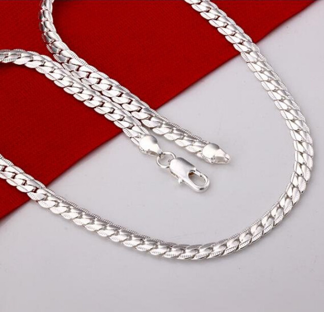 Modyle 2018 New Fashion Necklace Silver Color Mens Jewelry Necklace