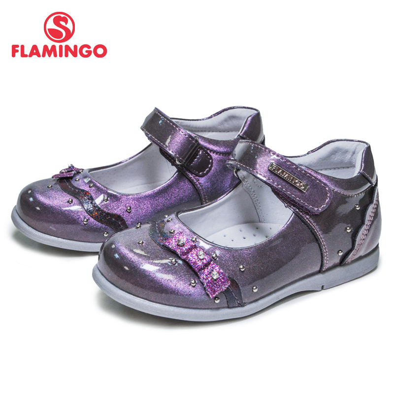 FLAMINGO New Arrival Bowknot Decora Spring& Summer Hook& Loop Outdoor School Shoes For Girl Free Shipping 81T-XY-0672/ 0673