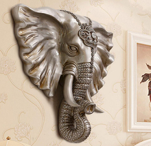 Kyrgyzstan good elephant animal head hanging wall decoration living room mural face 2118 Home Furnishing