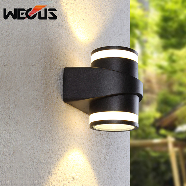 Simple outdoor wall lamp outdoor balcony Led outdoor waterproof modern wall lamp double head for coffee restaurant hotel vill