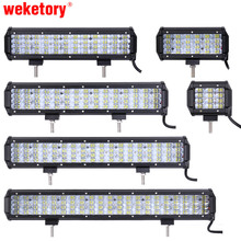 weketory 4 – 22 inch LED Light Bar LED Work Light LED Bar for Tractor Boat OffRoad 4WD 4×4 Truck SUV ATV 12V 24v