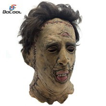 The Texas Chainsaw Massacre Leatherface Mask Scary Halloween Mask Movie Cosplay Costume Props Latex Party Mask
