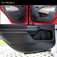 Teeze 4 stücke Neue Innen Carbon Faser Türen Seite Rand Anti kick Schutz Pad Aufkleber Für Mazda2|stickers for|stickers stickerssticker for doors -