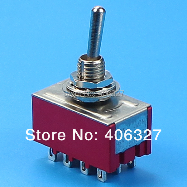 MTS 403R 4 pole double throw 4pdt ON OFF ON 4 way toggle switch-in ...