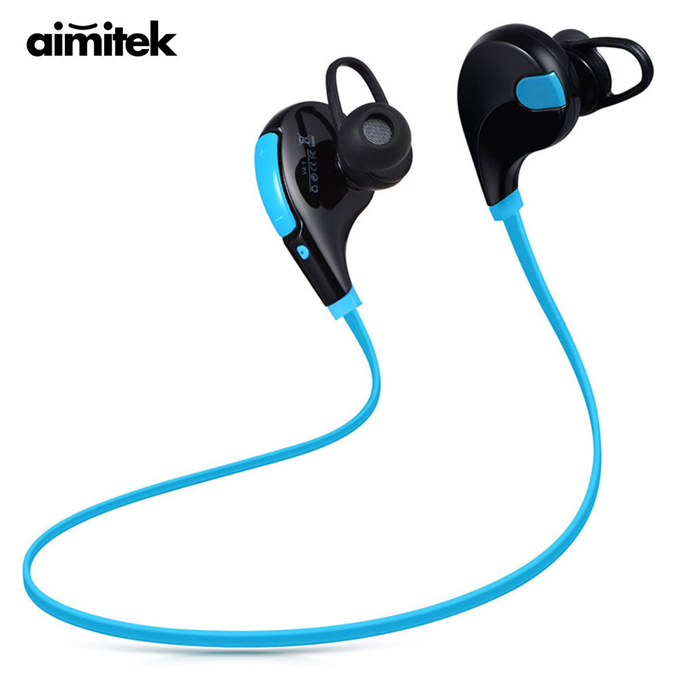 Aimitek Bluetooth Earphones Wireless Stereo Earbuds Sports CSR Headsets Headphones Hands-free with Mic for iPhone Android VS QY7 195hb wireless bluetooth mini headphones super bass headsets stereo sports over ear hifi earphones earbuds with mic for remax
