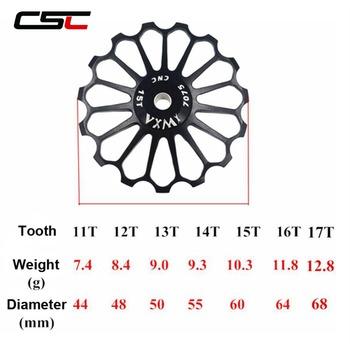 Koło pasowe tył ze stopu Jockey przerzutka łożyska ceramiczne 8T 10T 11T 12T 13T 14T 15T 16T 17T koło szosowe prowadnica rolkowa tanie i dobre opinie Przerzutki 11 Prędkości RD300817CB
