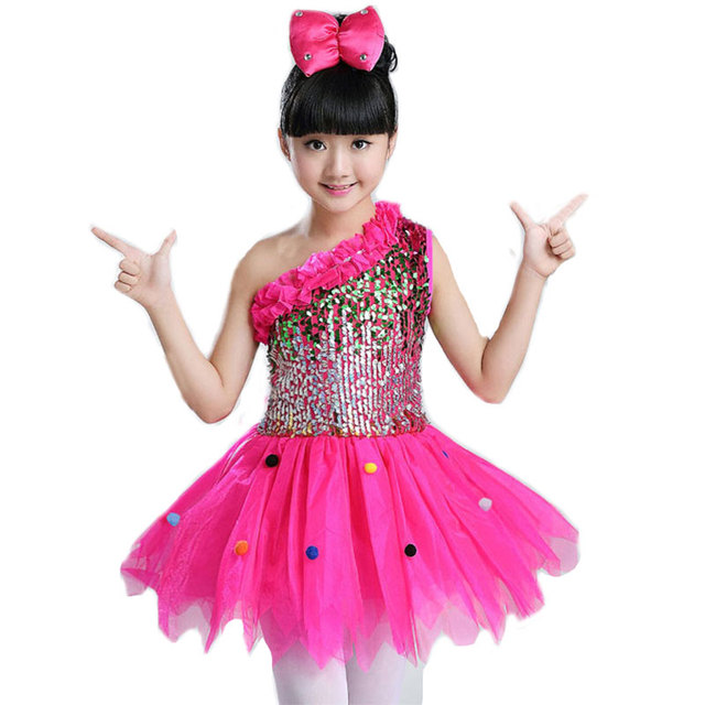 1f62c5cc9b2a Ballroom Children Kids Ballet Latin Dancewear Stage Dancing Clothing Dance  Costume Child Latin Ballet Dance Dress For Girls jazz