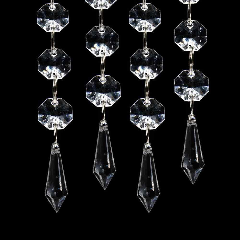 Высокое качество Мода 30 шт. акриловый кристалл прозрачный гирлянда Висячие бусины занавес Свадебная вечеринка украшение #4J19