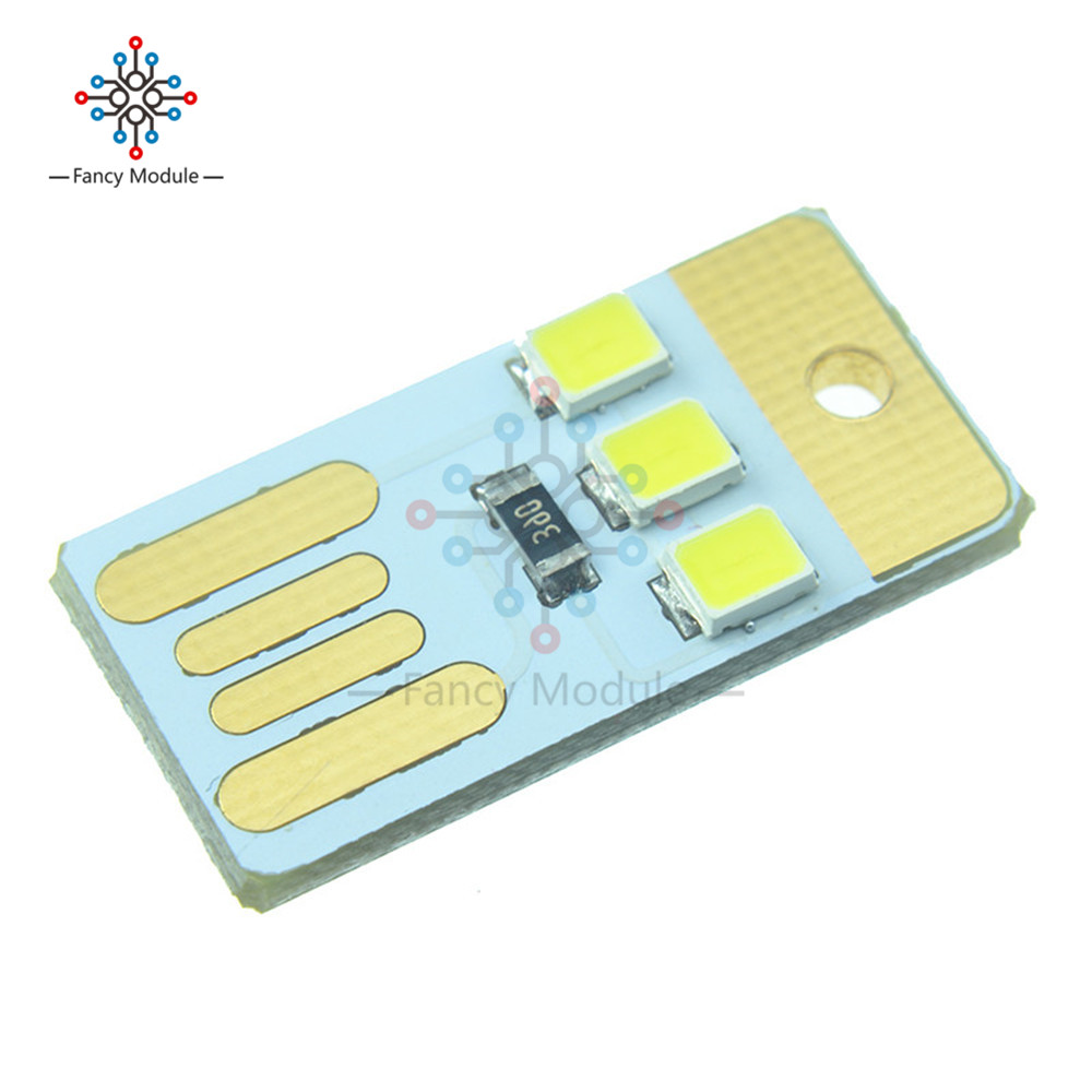 Electronic Components & Supplies Bright 10pcs Mini Night Usb Led Keychain Portable Power White Board Pocket Card Lamp Bulb Led