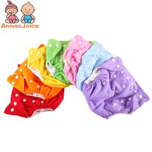 1Pc Baby Diapers Washable Cloth Diaper Baby Fraldas Winter Summer Version Diapers Reusable Nappies Grid/Cotton Training Pant(China)