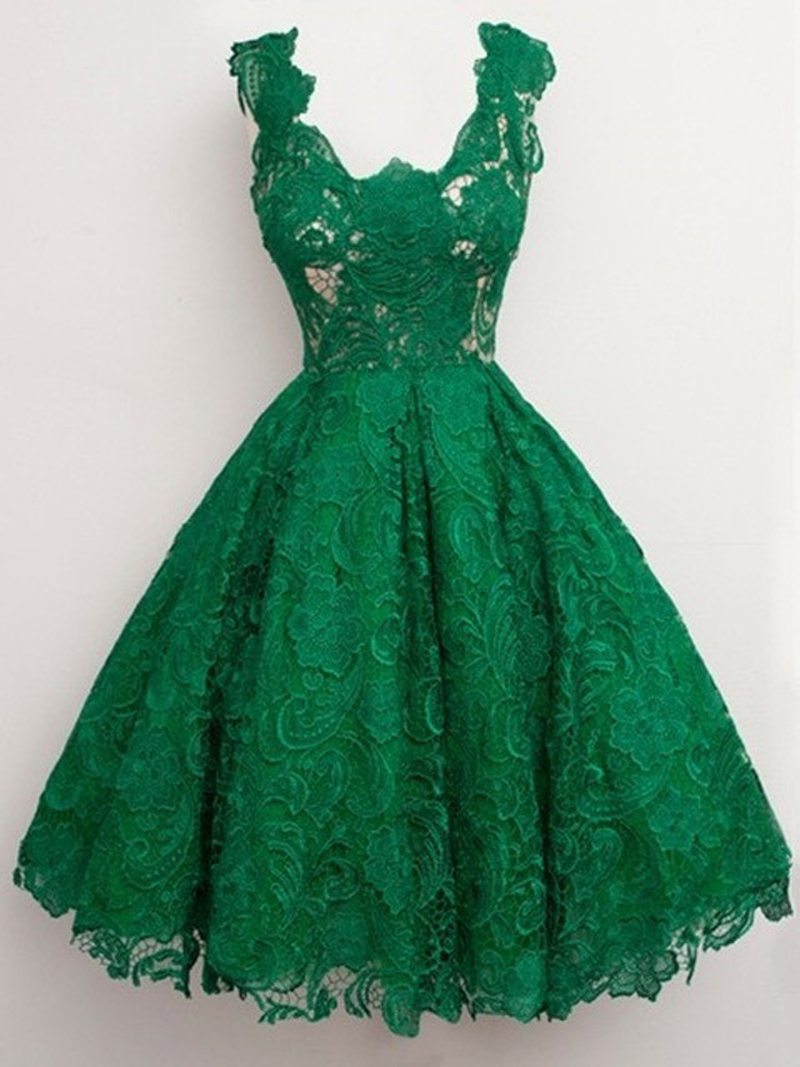 Popular Emerald Green Cocktail Dress-Buy Cheap Emerald Green ...