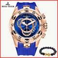 Arrecife de Tigre/RT superior de la marca de lujo de deporte hombres Reloj de oro rosa azul Reloj correa de caucho de moda Reloj de Hombre 2019 RGA303 2