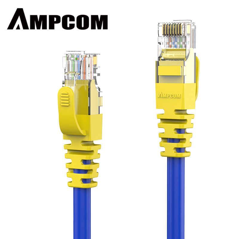 AMPCOM Ethernet Cable RJ45 Cat5e Lan Cable UTP CAT 5e RJ 45 Network Cable Patch Cord (100Mbps 100Mhz 24AWG) For Desktop Computer