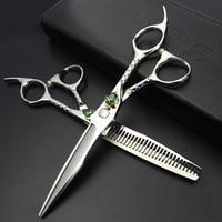 Sharonds Professional 6 Salon Hair Scissors Set Individual Skull Skull Head Hair Styling Tools Barber Scissors Free Delivery