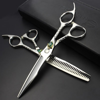 Sharonds Professional 6 Salon Hair Scissors Set Individual Skull Skull Head Hair Styling Tools Barber Scissors Free Delivery