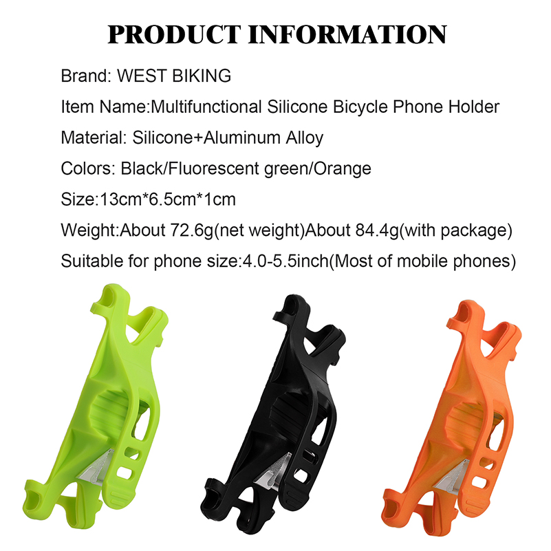 WEST BIKING Bicycle Mobile Phone Holder Suitable For All Type Of Vehicles