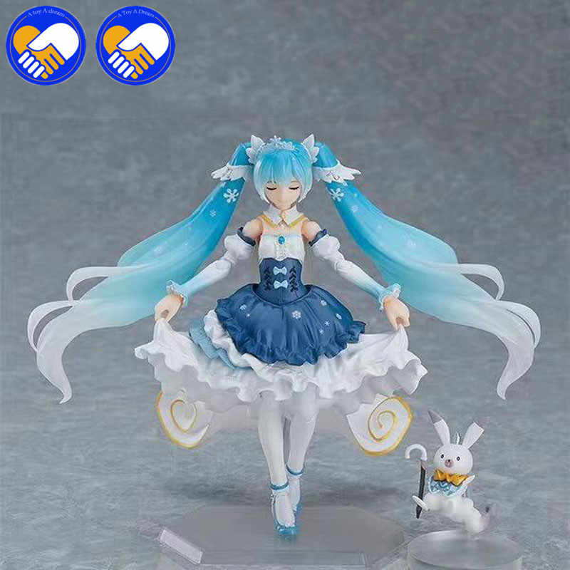 Anime Figma EX-054 Vocaloid SNOW MIKU Snow Princess Ver PVC Figure New In Box