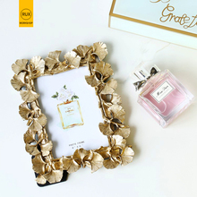 2019 new European leaves Photo frame Creative home decoration Wedding couple recommended picture Gold silver