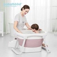 Large Size Folding Child Kids Bath Tub Thicken Solid Purple/Blue Baby Bathtub Baby Girls&Boy Bath Barrels
