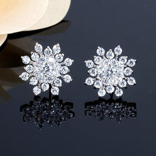 Rhinestone Snowflake Earrings