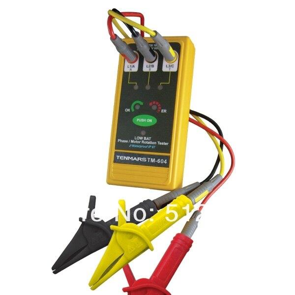 TM-604 3 phases/moteur testeur de Rotation
