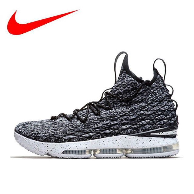 5bbc22f7a3f Official Nike Lebron 15 LBJ15 Breathable Men s Basketball Shoes ...