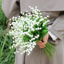 1/6/12pcs Artificial Lily of The Valley Flowers Bouquet for Wedding Party Decoration Fake Home Garden Supplies Floral