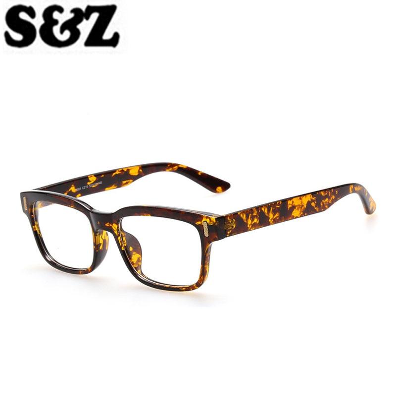 d7653810a62b58 Optische Eyewear Frame voor Mannen Vrouwen Brilmonturen Clear Nep Bril  Vierkante bril Spiegel Retro Mode Brillen Frame in Optische Eyewear Frame  voor Mannen ...
