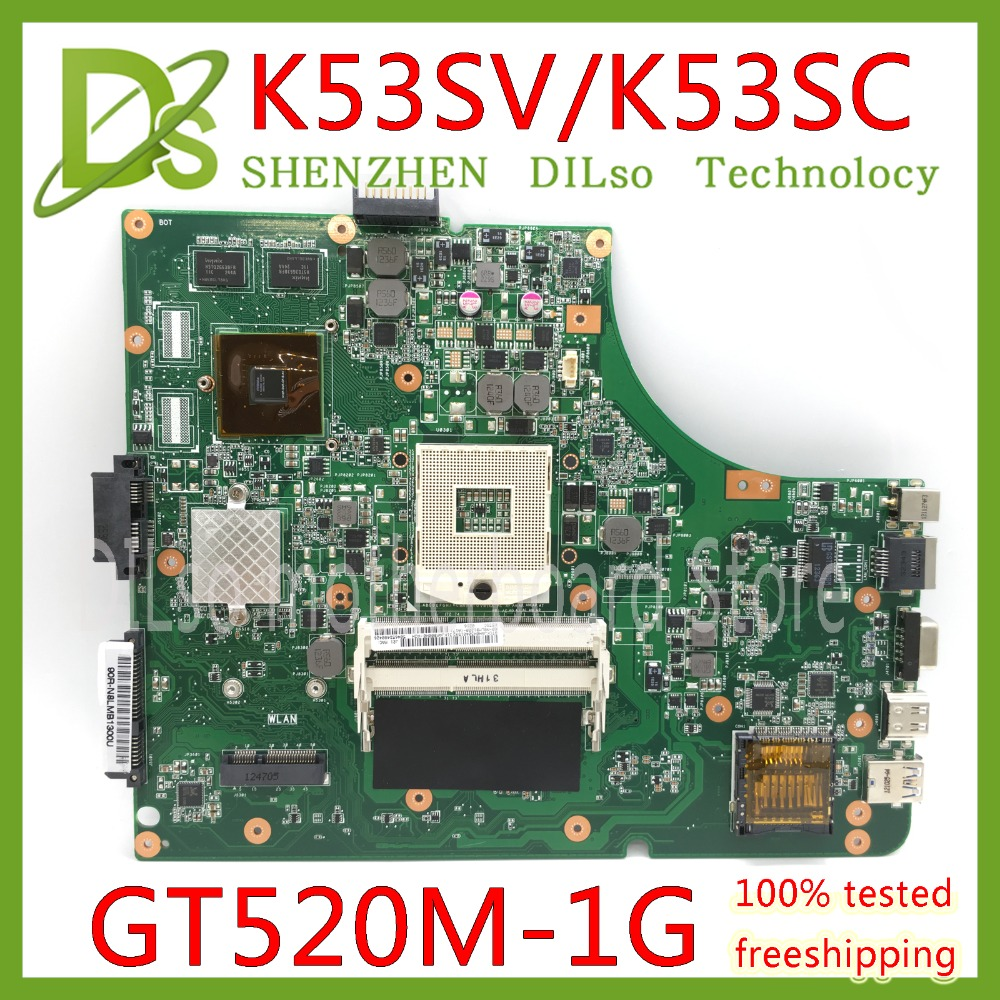KEFU K53SV Laptop Motherboard K53SV REV 3.0/3.1 Fit For ASUS K53SC A53S X53S P53S K53SJ K53SC Notebook k53sv rev 3 1 4 pieces video memory 1gb 2 ddr3 slot for asus k53sv a53s k53s x53s p53s k53sc k53sj k53sm free shipping