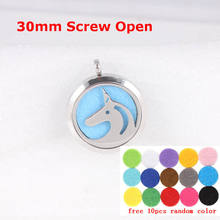 HORSE ESSENTIAL OIL DIFFUSER AROMATHERAPHY NECKLACE STAINLESS STEEL PERFUME LOCKET PENDANT Floating Locket