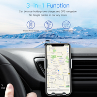 Baseus Wireless Car Charger Phone Holder For iPhone X 8 Plus Samsung S9 S8 Mobile Phone Charger In Car Wireless Charging Holder 5
