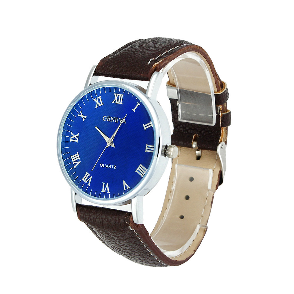 2017 Geneva Men Women Blue Ray Glass Quartz Wrist Watch Watches relogio masculino feminino Lover's Watch Feb16 Drop shipping