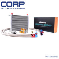 GPLUS 30 ROW Thermostat Adaptor Engine Racing Oil Cooler Kit For CAR/TRUCK SL