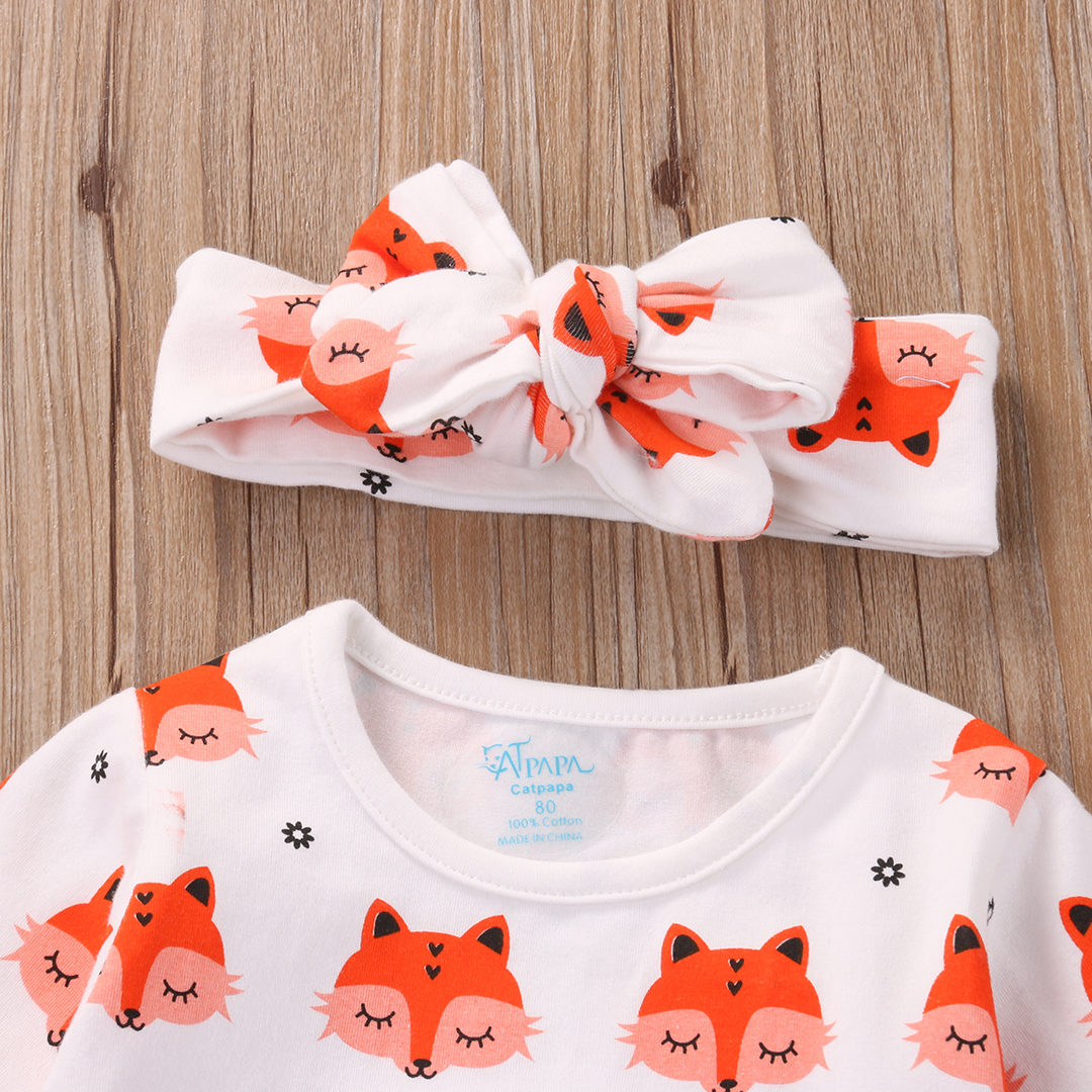 2017-Spring-Newborn-Baby-Girl-Clothes-Long-Sleeve-Cotton-Fox-Dress-Headband-2PCS-Outfit-Infant-Bebes-Casual-Dresses-4
