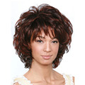 Bouncy Fluffy Short Wavy Mixed Color ( Mult Color )Capless Synthetic Hair Wigs About 10 Inches