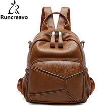 2018 rucksack women backpack sac a dos femme pu leather women bagpack back bag pack school backpack bags for teenage girls