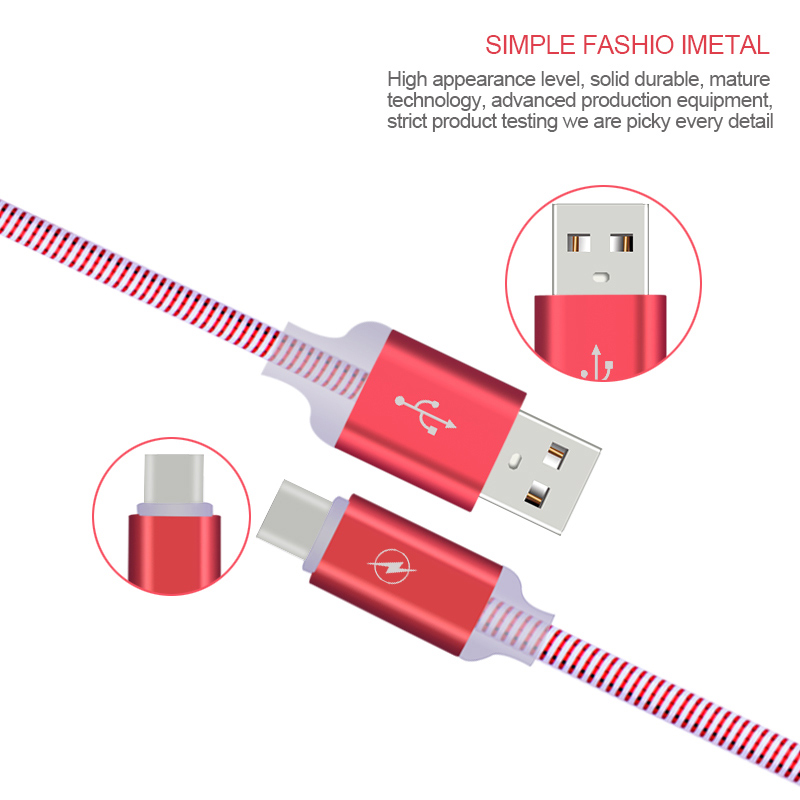 Crouch USB Type C Cable for Xiaomi Mi5 Type-C Fast Charging Data Cable for Samsung Galaxy S8 5X 6P OnePlus 2 USB Type-c Cables