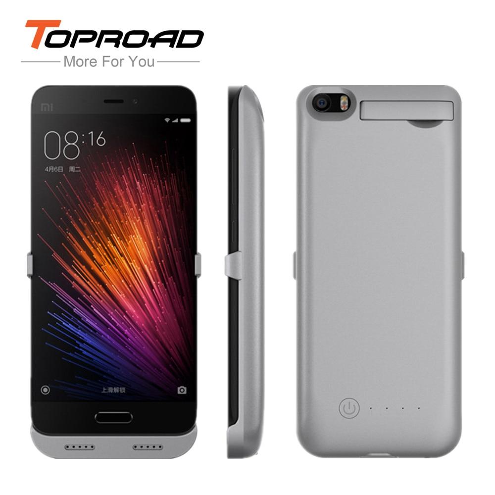 imágenes para TOPROAD 4200 mAh Clip De Energía Del Cargador de Batería para Xiaomi xiao mi 5 M5 MI5 MI 5 Soporte Del Teléfono Móvil Banco de la Energía Externa titular