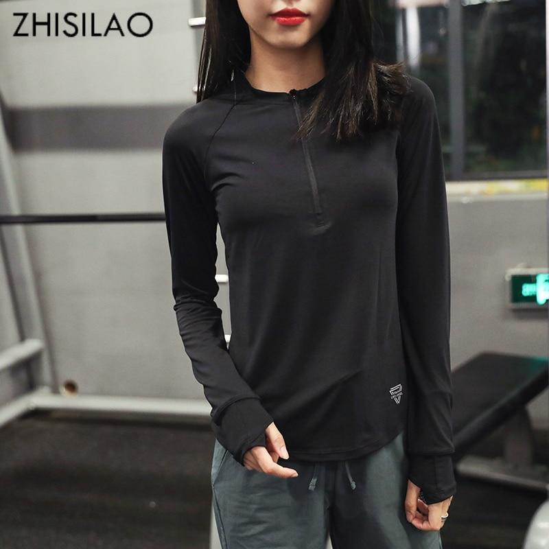 ZHISILAO 2018 respirant femme T-shirt femme t-shirt séchage rapide confort T-shirt noir t shirt haut pour femme noir T-shirt t-shirt décontracté