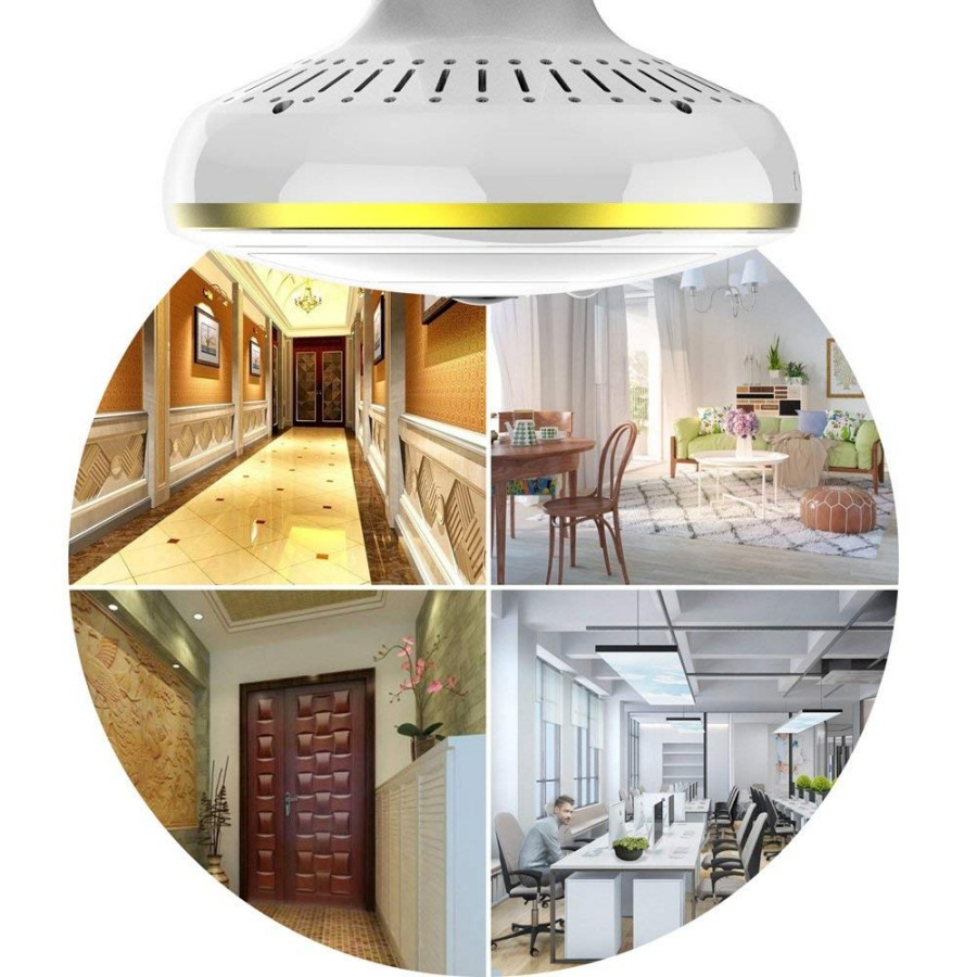 Wireless WiFi Security Camera Light Bulb Home Security System 360 Degree with Motion DetectionNight Vision for IOS Android APP_8