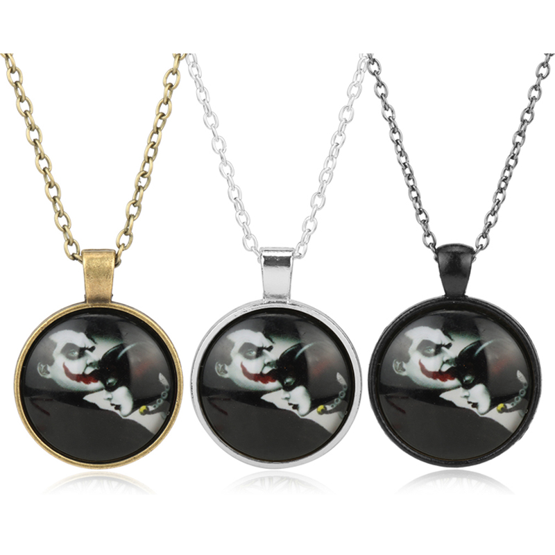 New Brand Glass Pendant Necklace Vintage accessories Girls Women long chain choker necklace suicide squad necklace for female