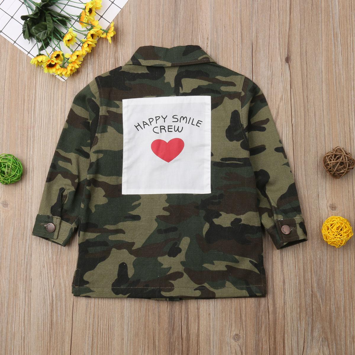 0aa6b93c784c8 2019 Spring Fashion Kids Boy Girl Camo Long Sleeve Jacket Spring Coat  Outerwear Clothes Autumn Valentine