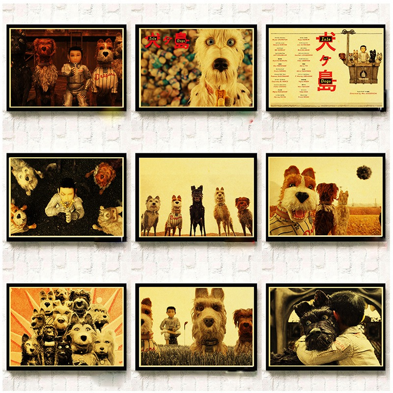 Best Deal D716e8 Isle Of Dogs Posters Wall Stickers Retro Poster Prints High Definition For Living Room Home Decoration Cicig Co