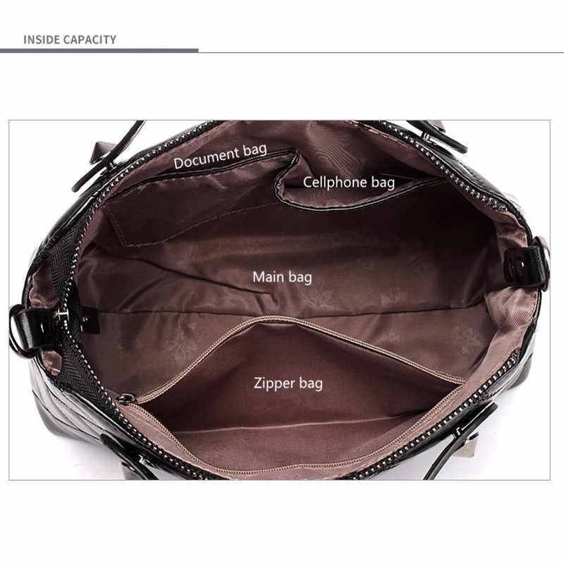 חדש יוקרה תיקי נשים תיק 2019 מותג מפורסם מעצב אופנה משובצת כתף תיק נקבה Crossbody קיבולת גבוהה Tote תיק