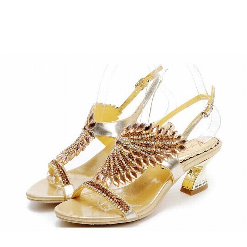 6c2340b3f EUA $54.34 novos 2017 verão sapatos mulher sandálias strass wom.