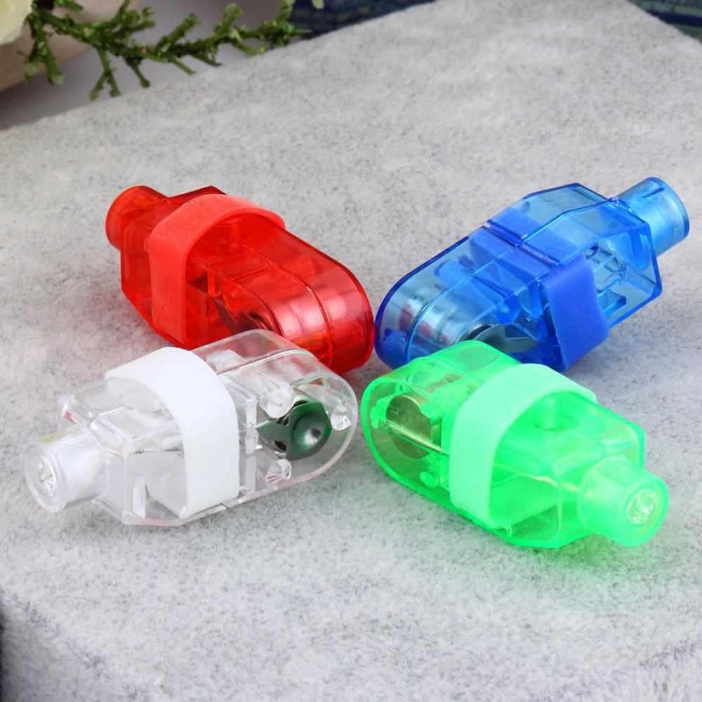 Luz de dedo LED para fiesta de 4 Uds., haz de dedo láser, antorcha de anillo para celebración de bodas, decoración de colores mixtos, iluminación de gran oferta