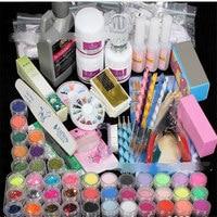 42 Color UV Gel Manicure Set of Tools Nail Set Kit UV Nail Polish Art Tools Nail Set Kit Building Gel