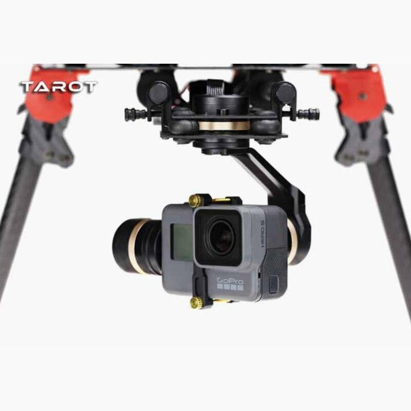 Tarot 3D V métal 3 axes PTZ cardan pour Gopro Hero 5 caméra Stablizer TL3T05 pour FPV Drone système Action Sport caméra