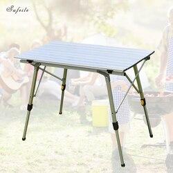 SUFEILE Tragbare outdoor klapptisch Heben camping grill tisch Lift Aluminium legierung Strand Freizeit picknick tisch D50
