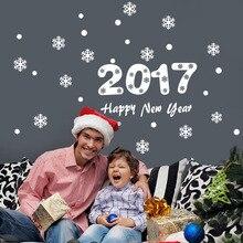 2017 с новым годом снежинка окно стены стикеры номер охватывает декор винил подарок главная наклейки фестиваль mual искусство плаката обои